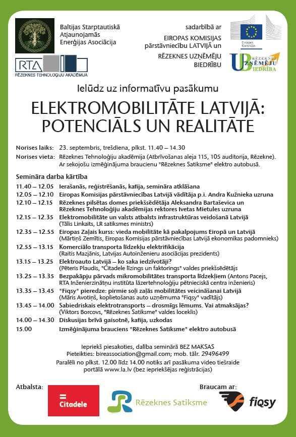 Sabiedriskais un komerciālais elektrotransports – kā to ieviest Latvijā?