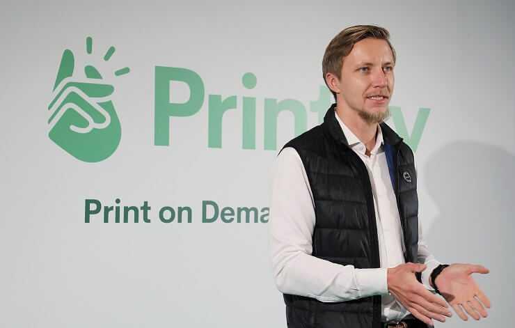 Printify atklaj uzņemuma jauno eku Spikeru kvartala 1