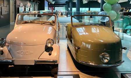Rīgas Motormuzejā aplūkojams tikko restaurētais spēkrats – Serpuhovas Motobūves rūpnīcā 1954. gadā ražotie invalīdu motorratiņi S1L.