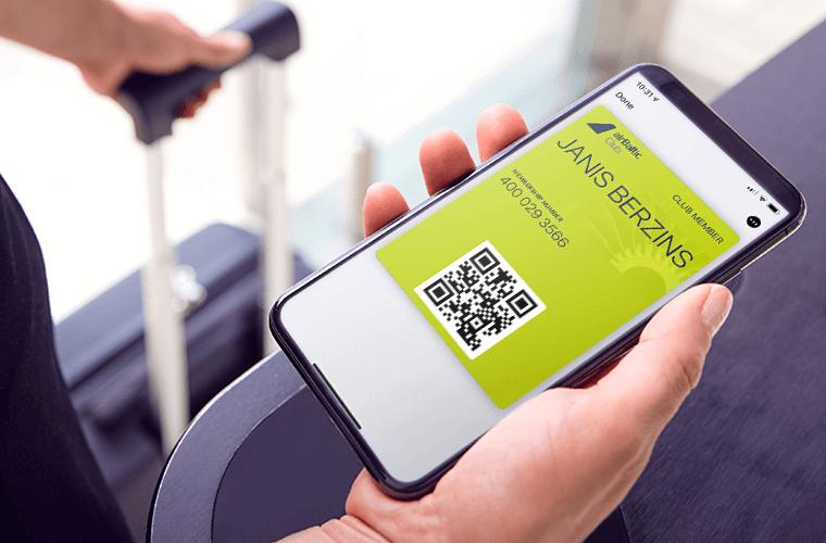 airBaltic Club ievieš digitālo lojalitātes karti
