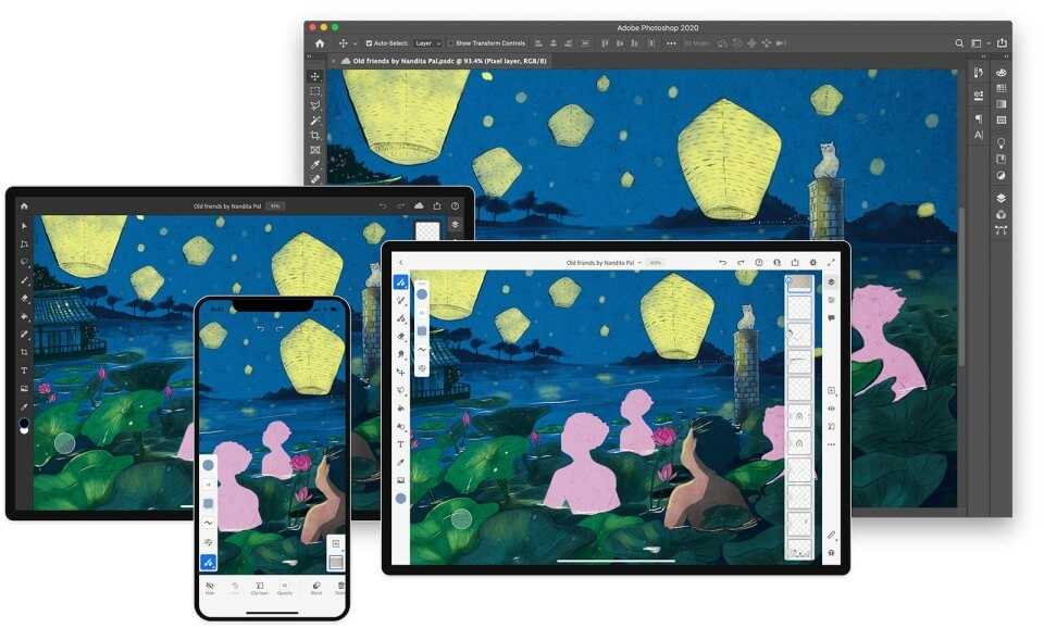 Zīmējam Iphone telefonā ar Adobe Fresco