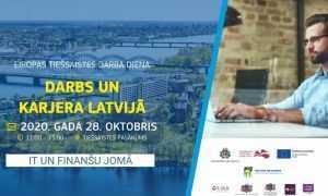 28.oktobrī norisināsies NVA un EURES tiešsaistes darba diena speciālistu piesaistei IT un finanšu jomai