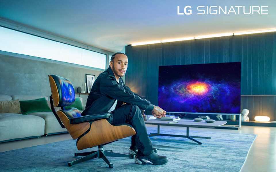Luiss Hamiltons ir kļuvis par LG SIGNATURE zīmola vēstnesi