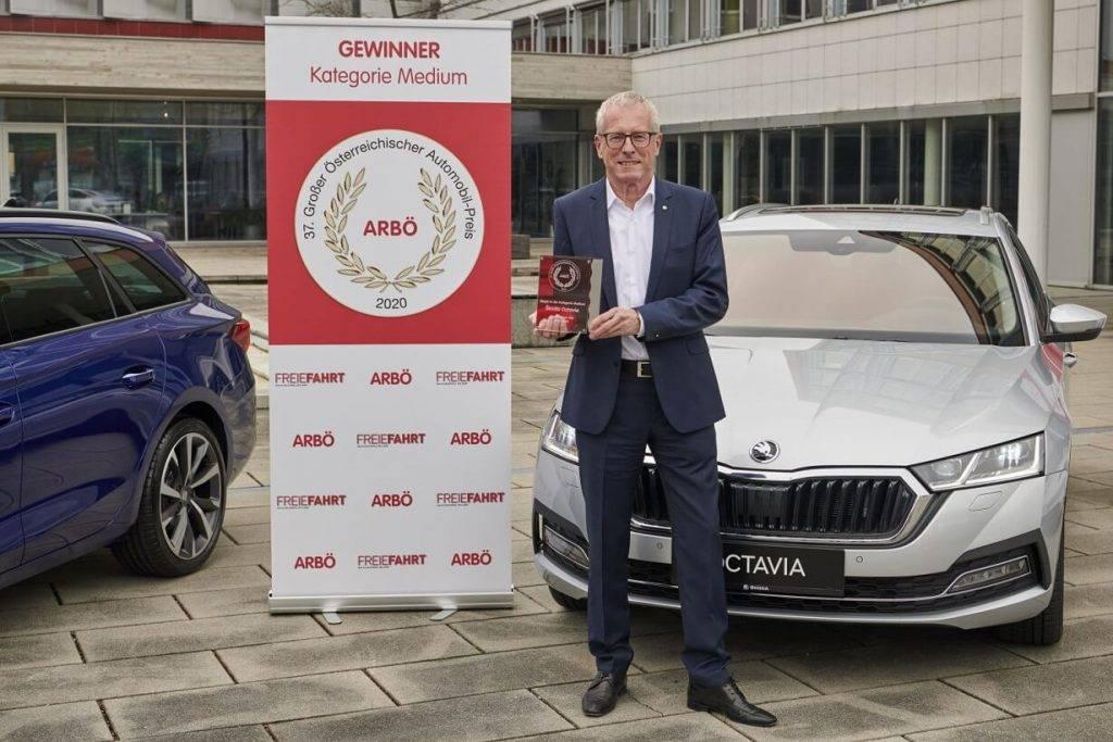 Skoda Octavia Austrijas auto nozares apbalvojums