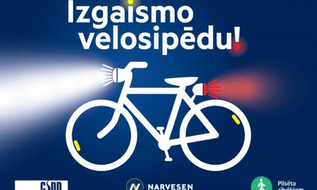 Esi redzams – izgaismo velosipēdu!