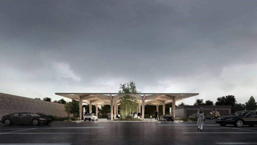 Latvijas uzņēmumi sāk būvēt elektroauto uzlādes stacijas Dānijā no līmētā koka
