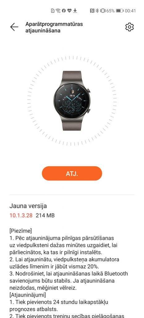 Huawei health update Huawei Watch GT 2