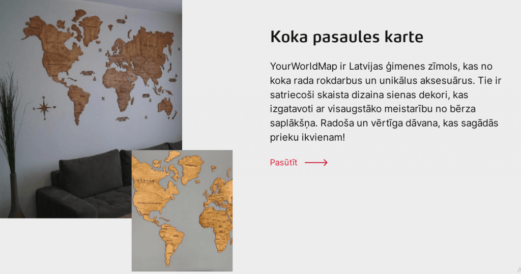 YourWorldMap koka pasaules karte