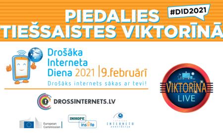 Drošāka interneta dienā 9.februārī norisināsies Vislatvijas viktorīna