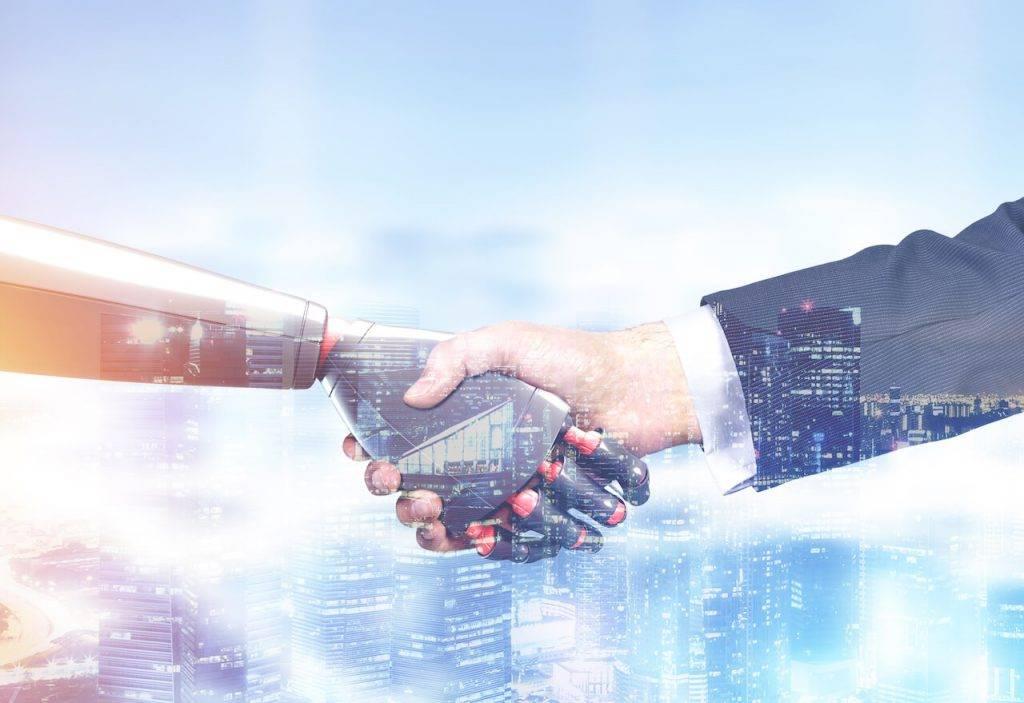 Roboti darba un majas un bizness makonu tehnologijas