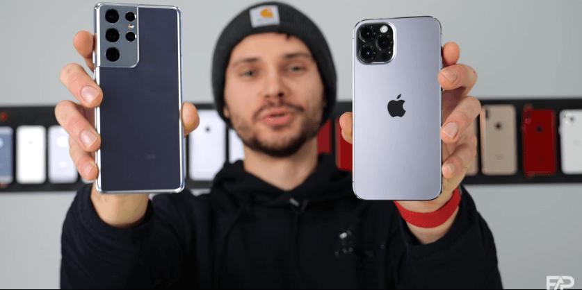 Samsung Galaxy S21 Ultra pret iPhone 12