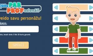 Radīta digitāli interaktīva spēle aizraujošai profesiju pasaules izzināšanai