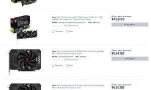 GeForce RTX 3060 videokartes tirdzniecība