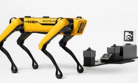 Boston Dynamics robotu uzlādes stacija