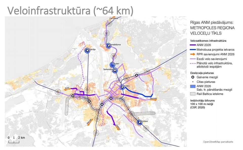 Rīga pretendēs uz 150 miljoniem eiro metrobusa līnijas, mobilitātes punktu un veloinfrastruktūras izveidošanai