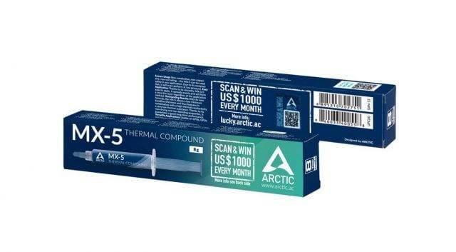 Jauna Arctic MX5 termopasta