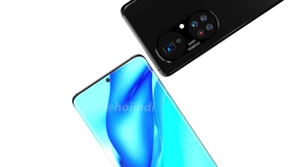 Jaunākā Huawei viedtālruņa ilustrācija
