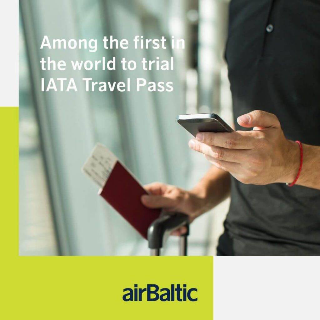 airBaltic kā viena no pirmajām lidsabiedrībām pasaulē izmēģinās IATA Travel Pass