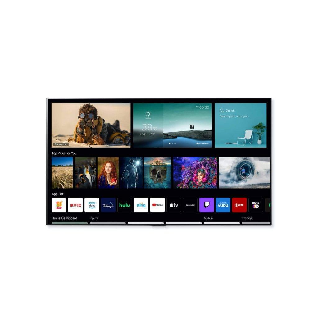 Jaunā LG webOS 6.0 Smart TV platforma paradzēta skatītāju satura patērēšansa paradumiem