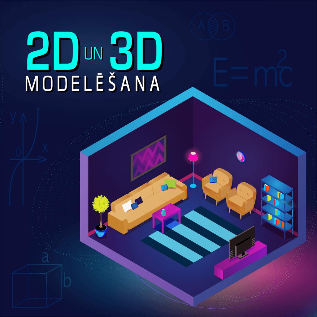 Apgūsti 2D un 3D modelēšanu skolēnu matemātiskās un telpiskās domāšanas prasmju attīstīšanai
