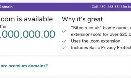 """Rodžers Vers ir pieprasījis Interneta domēnvārdu reģistratoram """"GoDaddy"""" izņemt domēnu """"Bitcoin.com"""" no pārdošanas saraksta"""