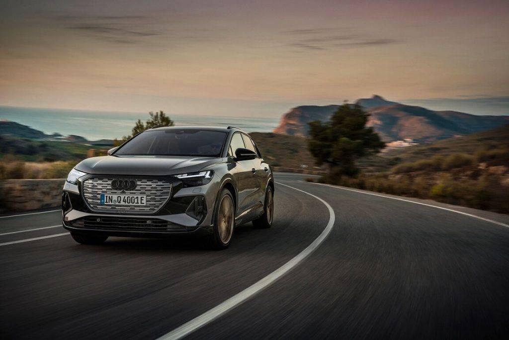 Audi Q4 e-tron Latvijā