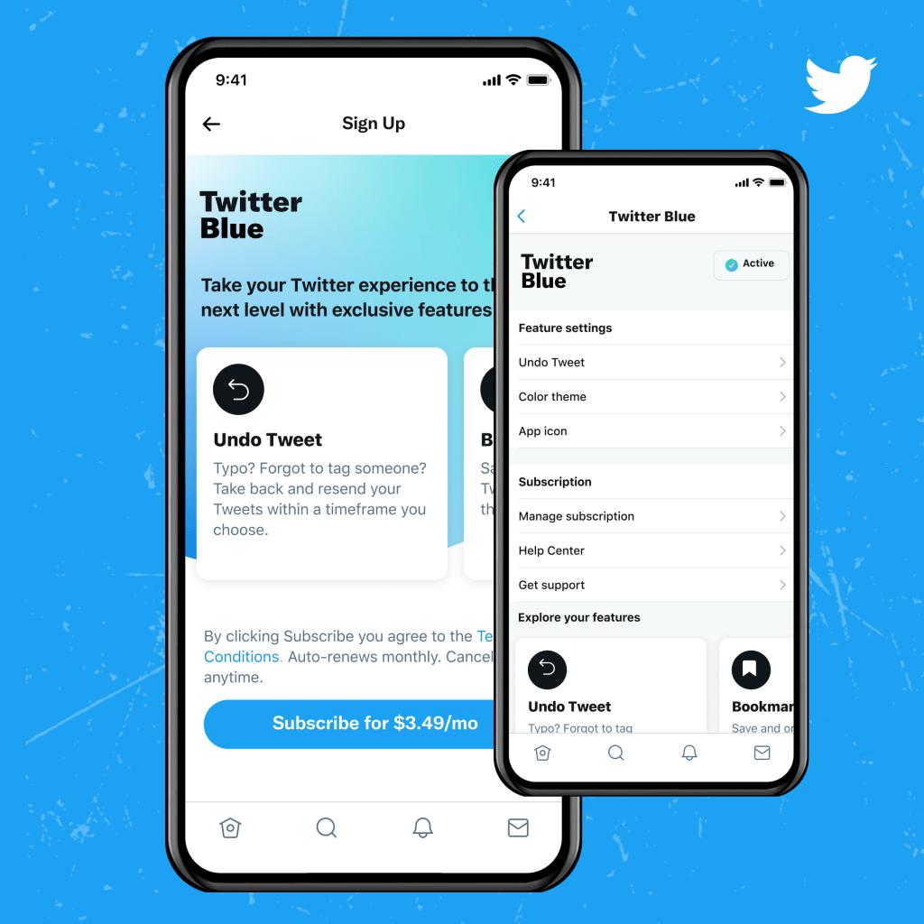 Twitter maksas funkcija Blue