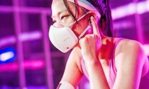 Jaunākos LG PuriCare nēsājamos gaisa attīrītājus jeb sejas maskas nēsā arī atlēti olimpiskajās spēlēs