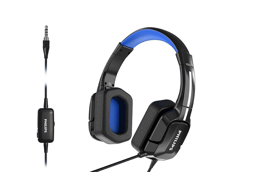 Tīra skaņas kvalitāte nodrošina komfortu ar pirmajām Philips vieglajām spēļu austiņām