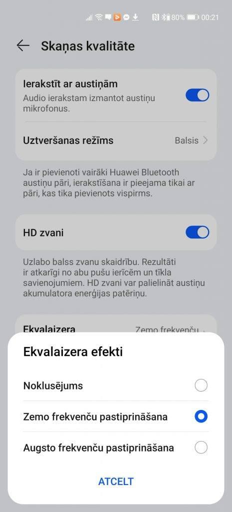 Ekvilaizers - Huawei Freebuds 4 austiņu apskats