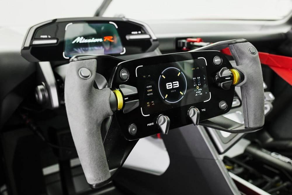 """""""Porsche"""" prezentē uz nākotni orientēto """"Mission R"""" sacīkšu konceptautomobili"""