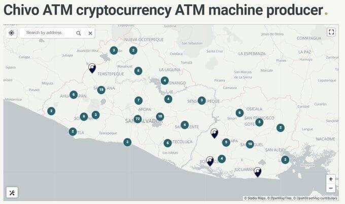 Kriptomātu skaits Salvadorā