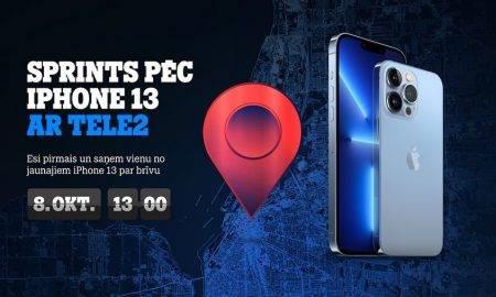 """Latvijā notiks sacīkstes """"Sprints pēc i-Phone 13"""""""
